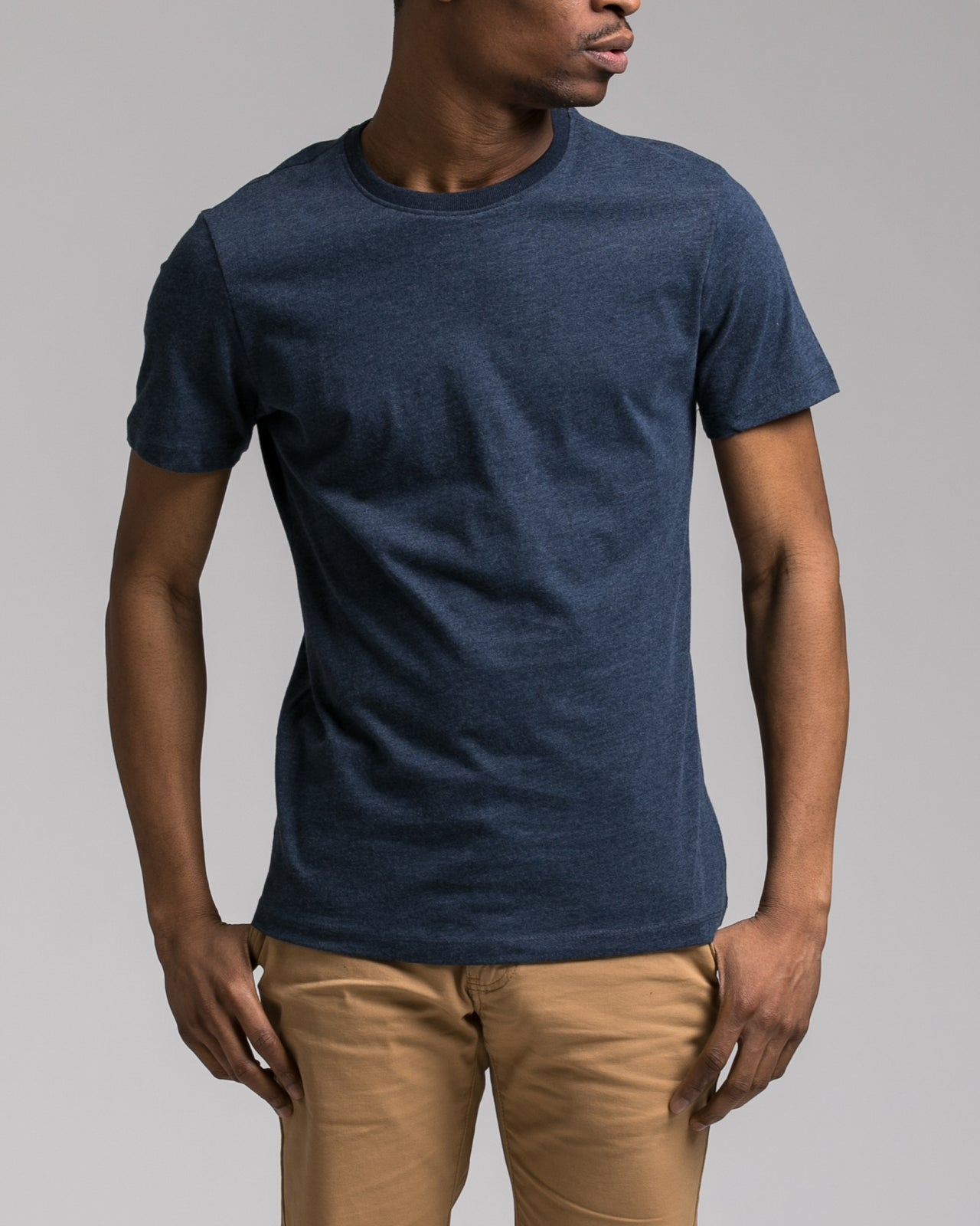 Slim Tee - Color: Heather Navy | Blue