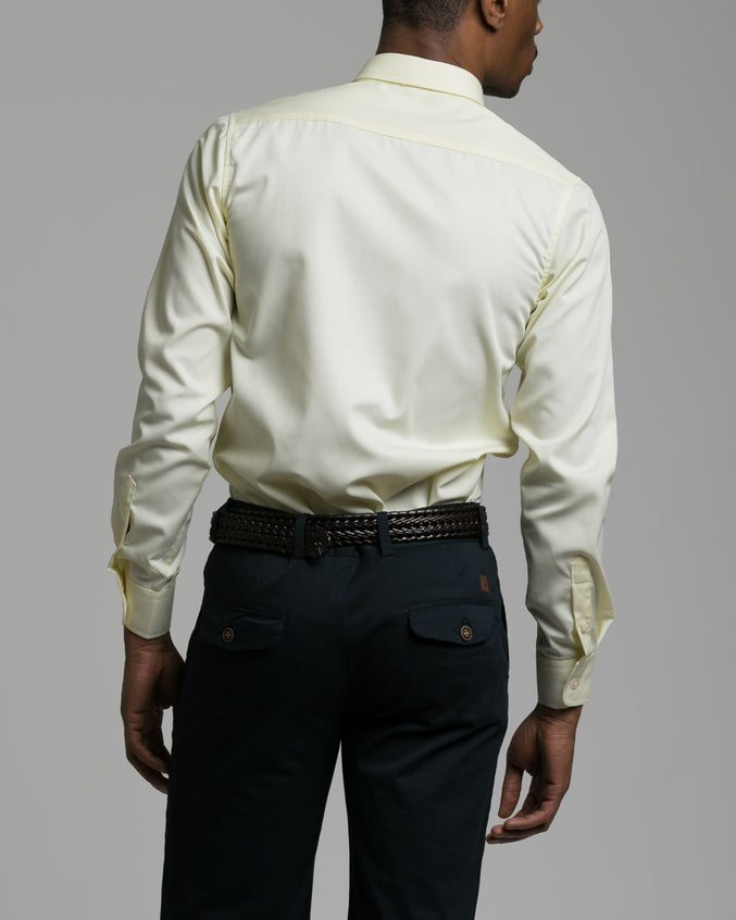 Dorsia Dress Shirt - Color: Pale Yellow | Yellow