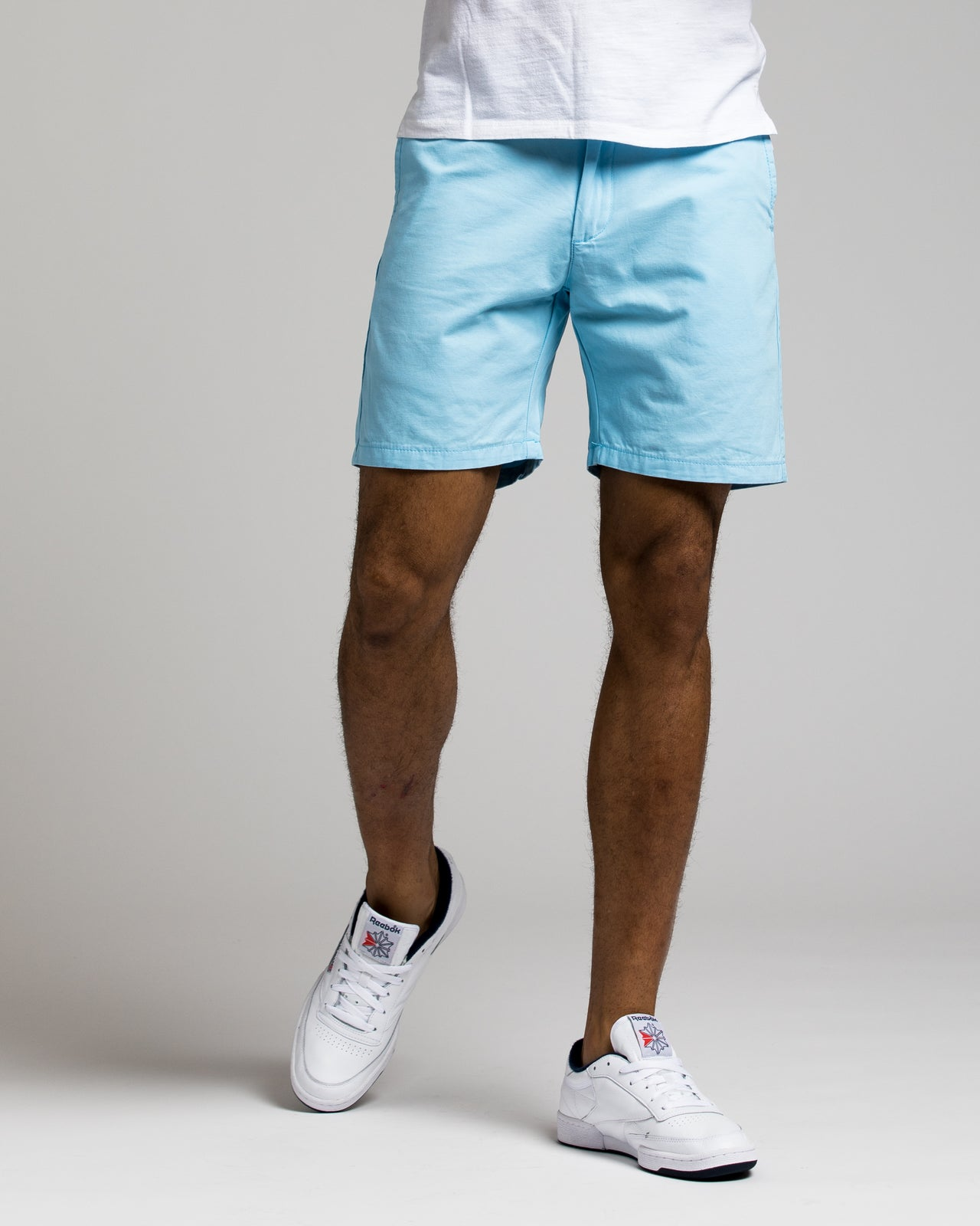 7 Inch Chino Shorts - Color: Baby Blue | Blue