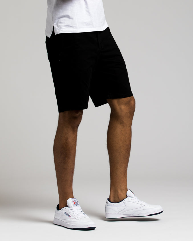 9 Inch Chino Shorts - Color: BLACK | Black