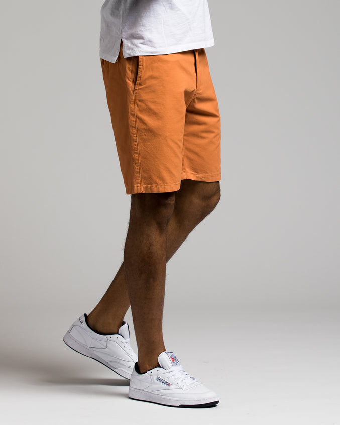 9 Inch Chino Shorts - Color: Faded Orange | Orange