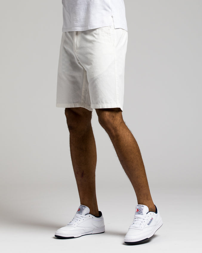 9 Inch Chino Shorts - Color: WHITE | White