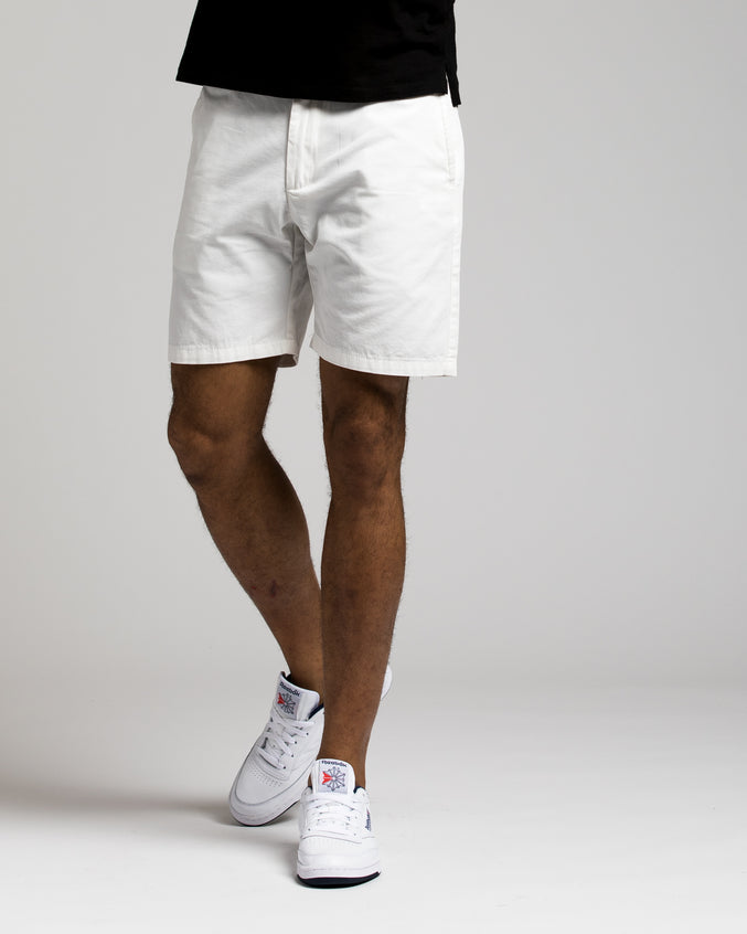 7 Inch Chino Shorts - Color: WHITE | White