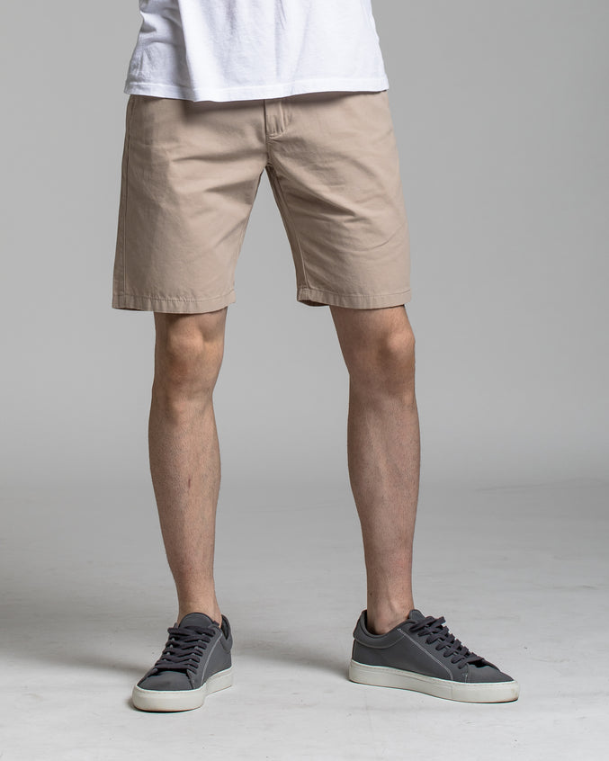 9 Inch Chino Short - Color: Stone | Beige