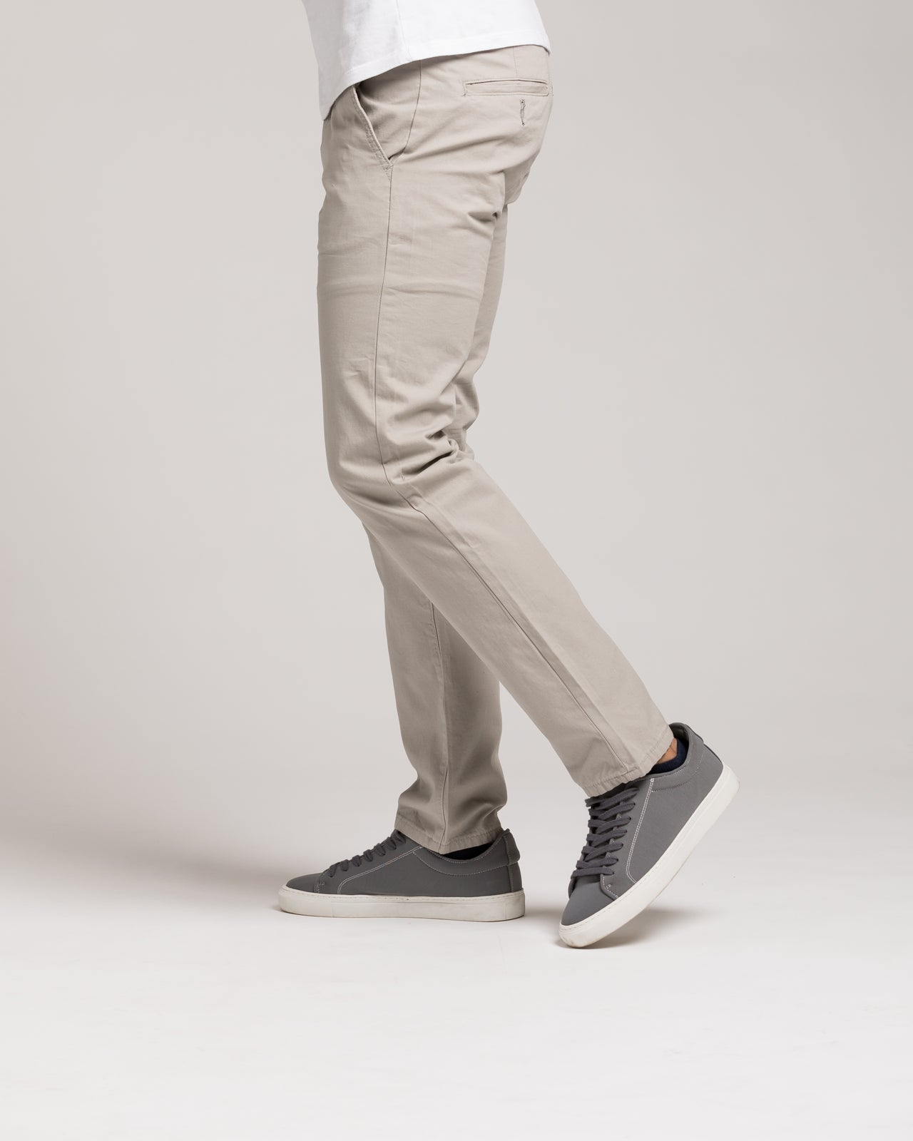 Slim Chino Pant - Color: Silver | Silver