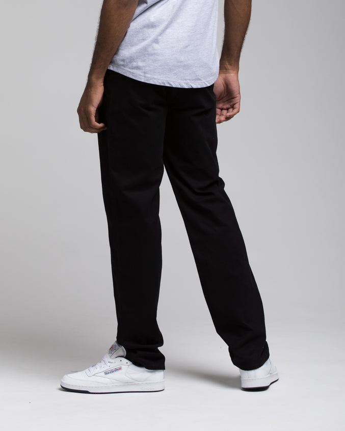SLIM CHINO PANTS - Color: BLACK | Black
