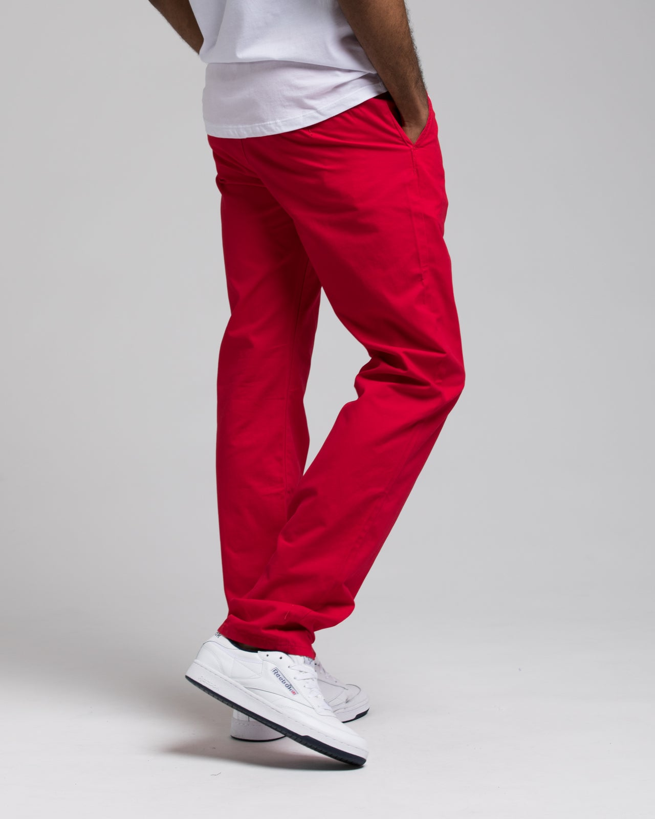 SLIM CHINO PANTS - Color: NANTUCKET RED | Red