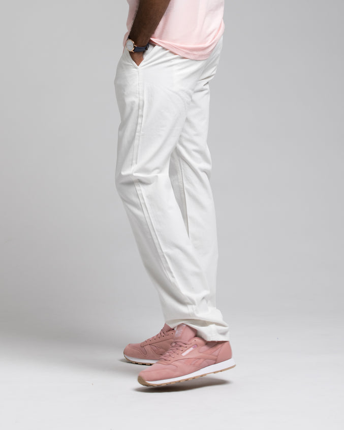 SLIM CHINO PANTS - Color: WHITE | White
