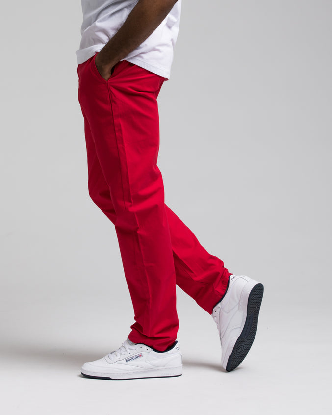 SKINNY CHINO PANTS - Color: NANTUCKET RED | Red