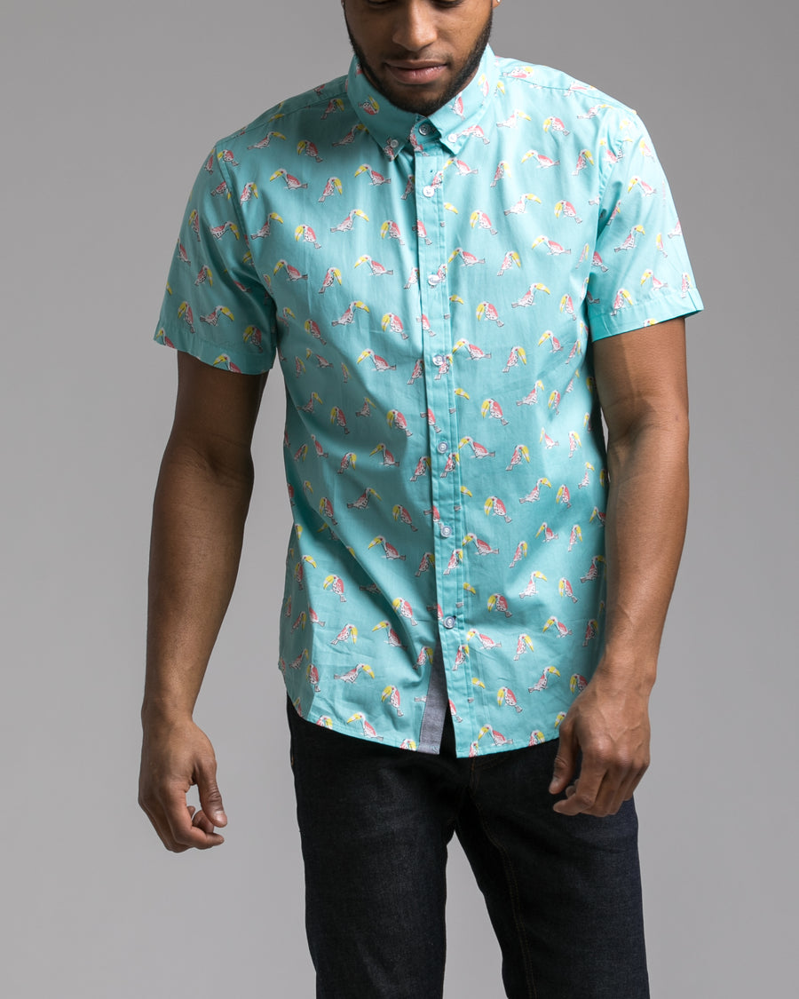 Short Sleeve Birds Shirt