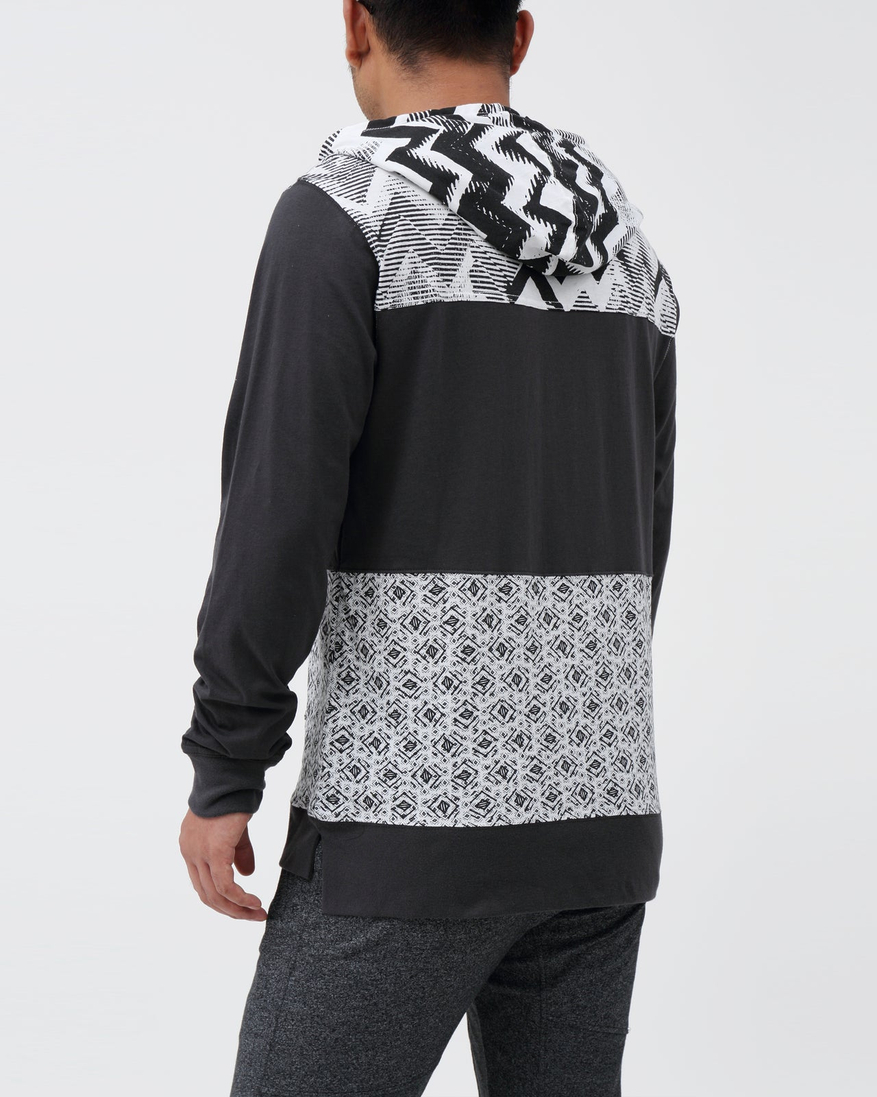 Geo Hoodie - Color: Phantom | White