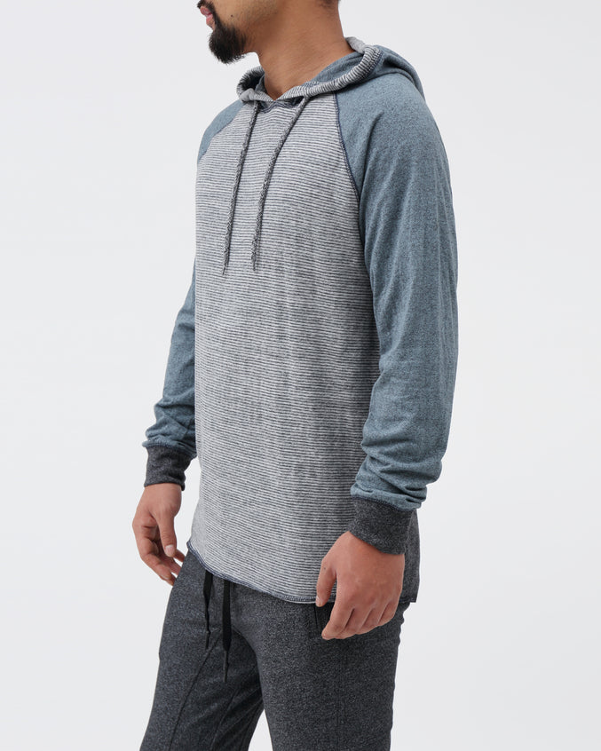 Contrast Stripe Hoodie - Color: Black Heather | Black