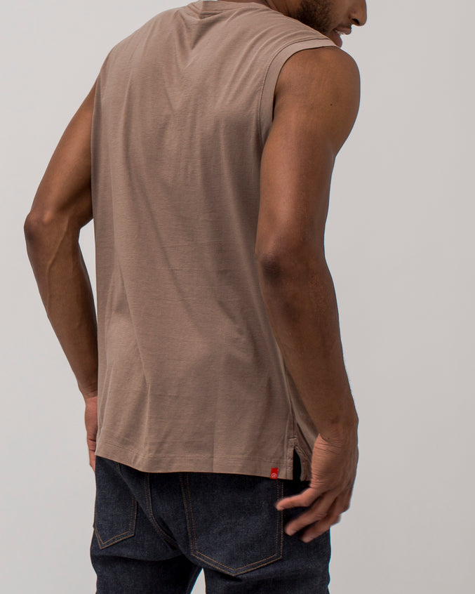 Long Tank - Color: Fossil | Brown