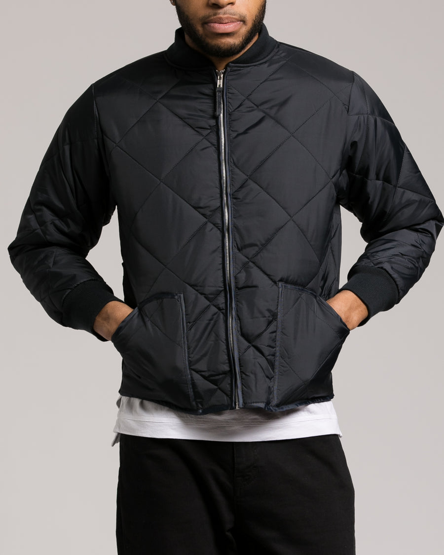 Diamond Quilted Flight Jacket