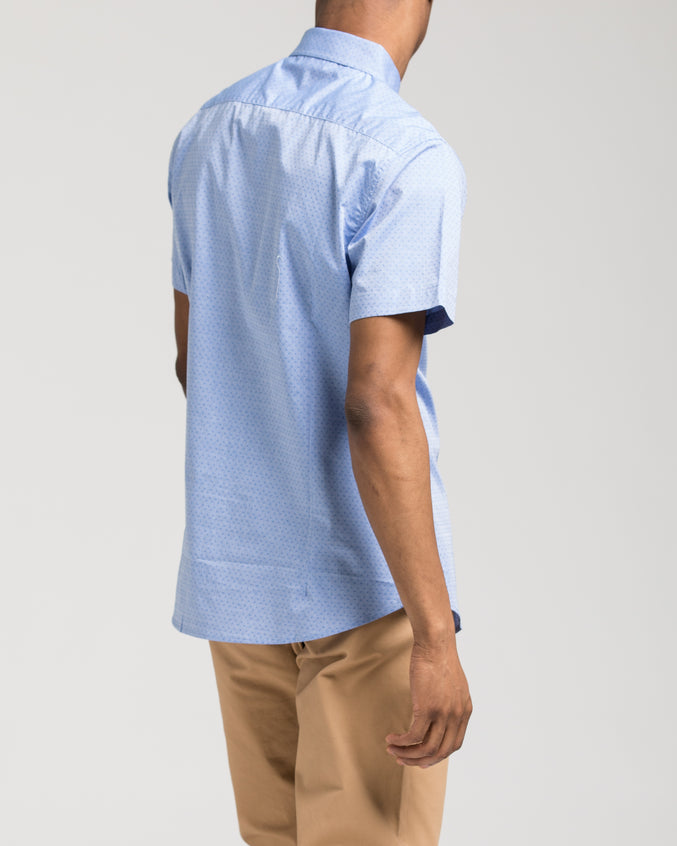 Short Sleeve Dolby Shirt - Color: Blue/Navy | Blue