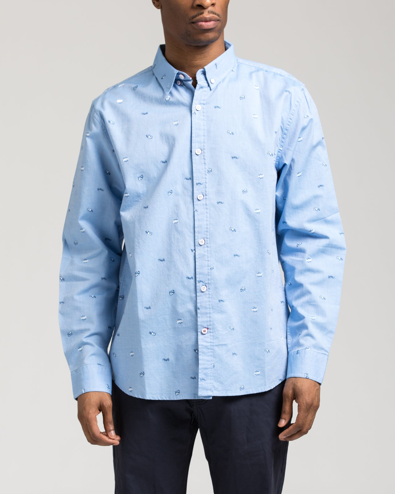 Long Sleeve Animals Shirt - Color: Blue | Blue