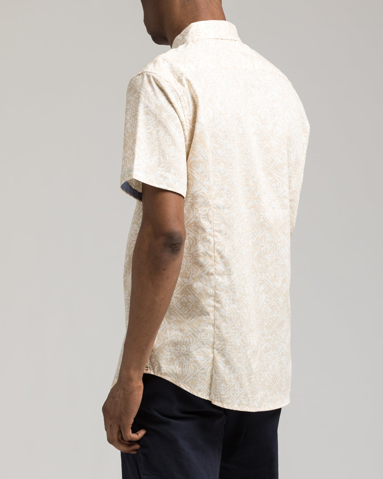 Short Sleeve Floral Shirt - Color: White/Yellow | White