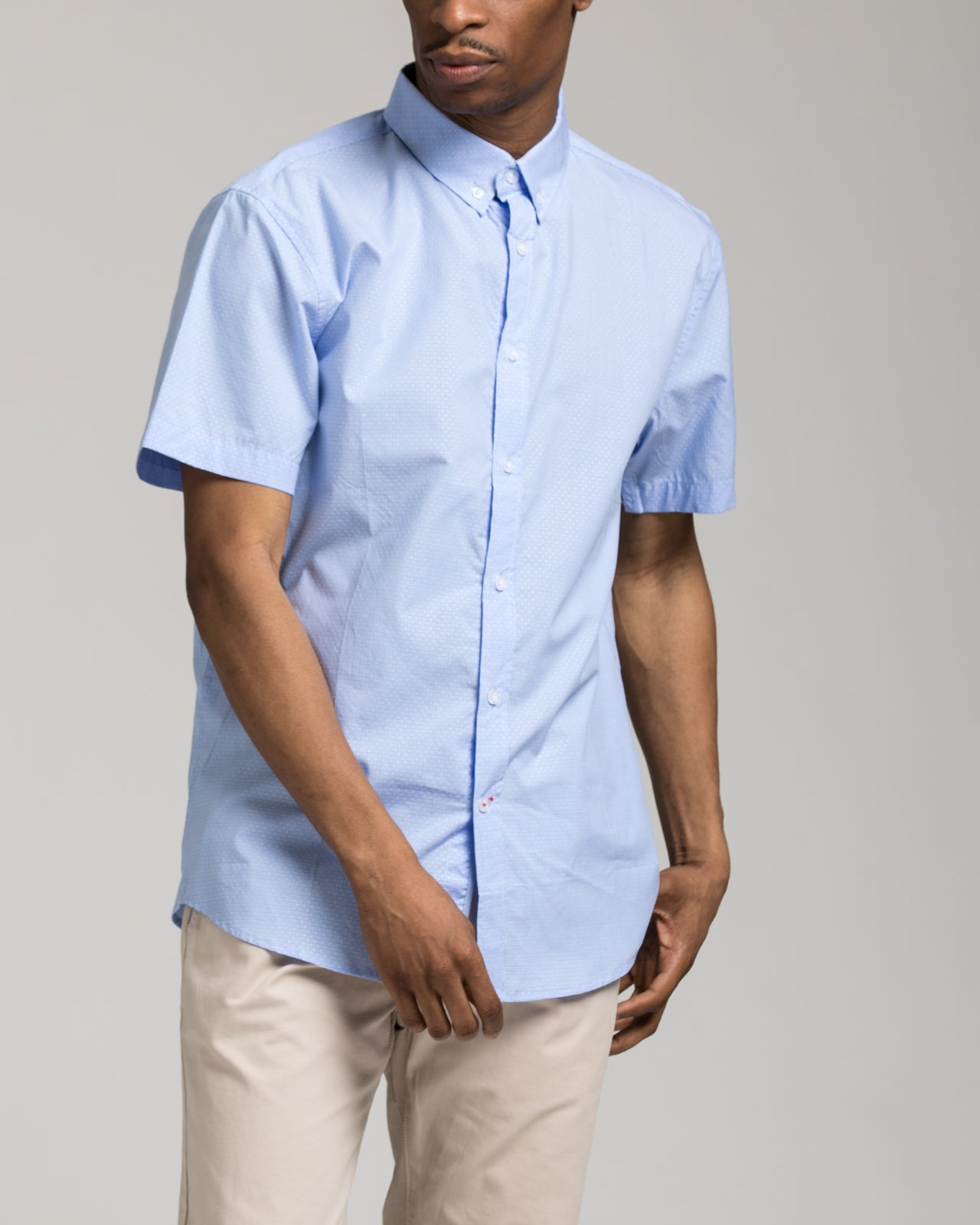 Short Sleeve Dolby Shirt - Color: Blue/White | Blue