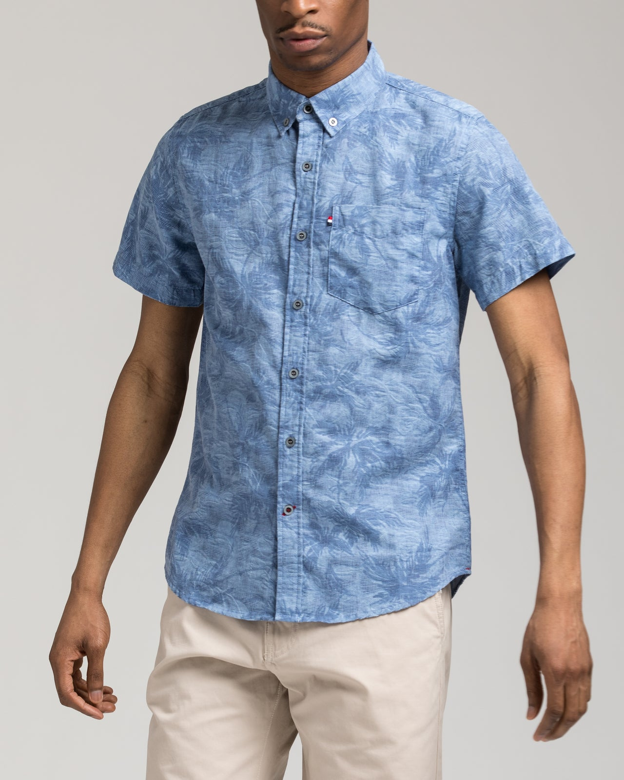 Short Sleeve Palms Shirt - Color: Blue | Blue