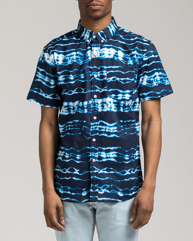 Short Sleeve Trippy Shirt - Color: Blue | Blue