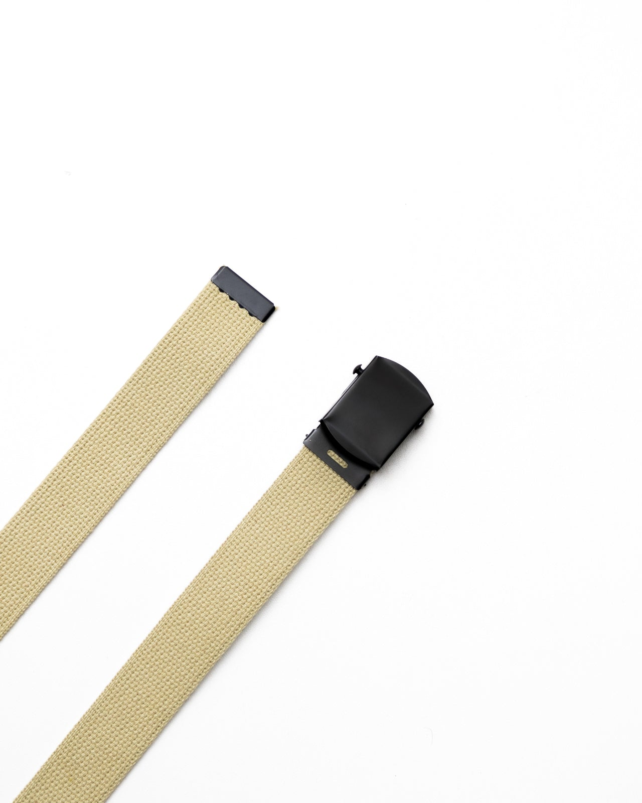 Web Belt - Color: Khaki/Black | Beige