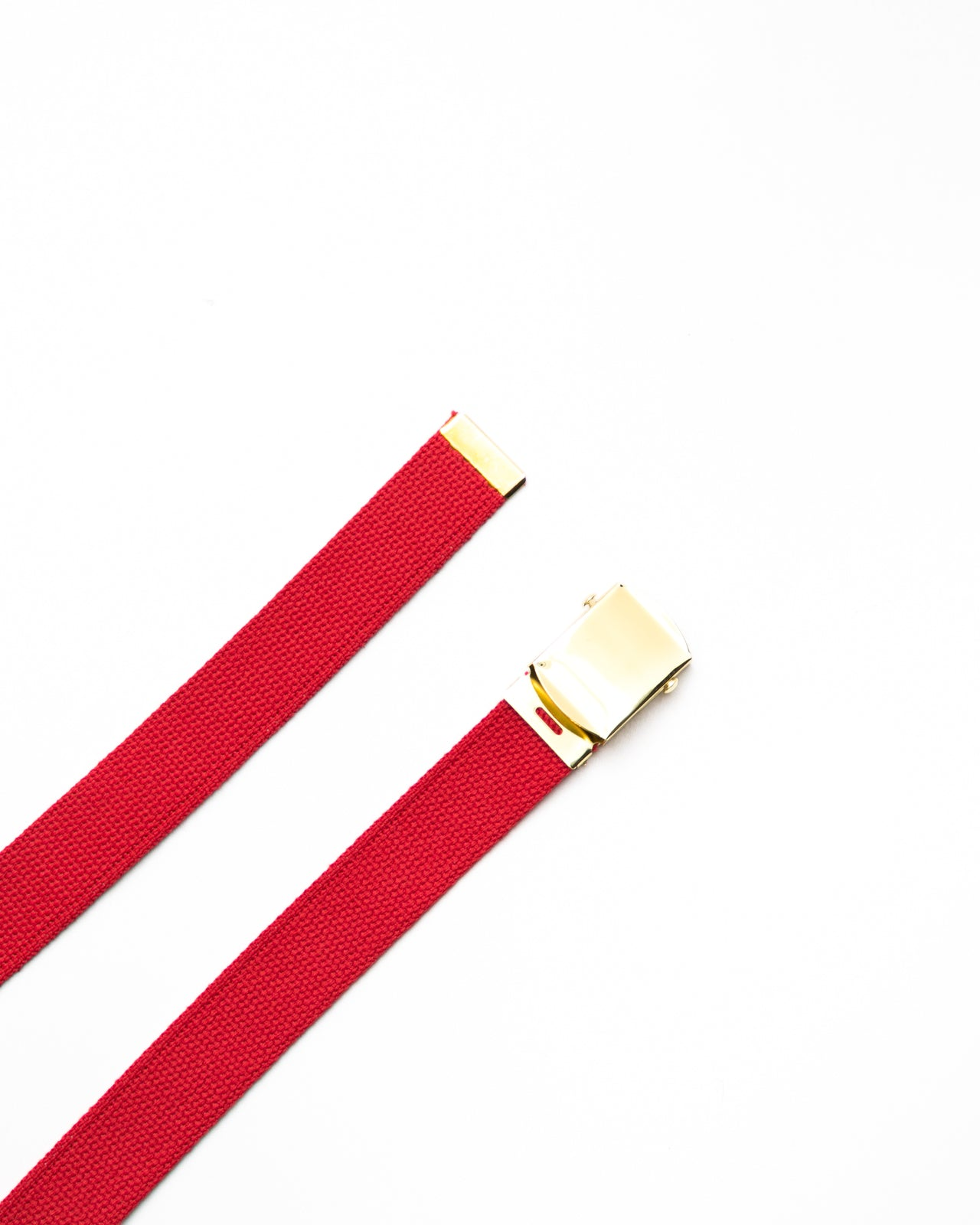Web Belt- Color: Red/Brass | Red