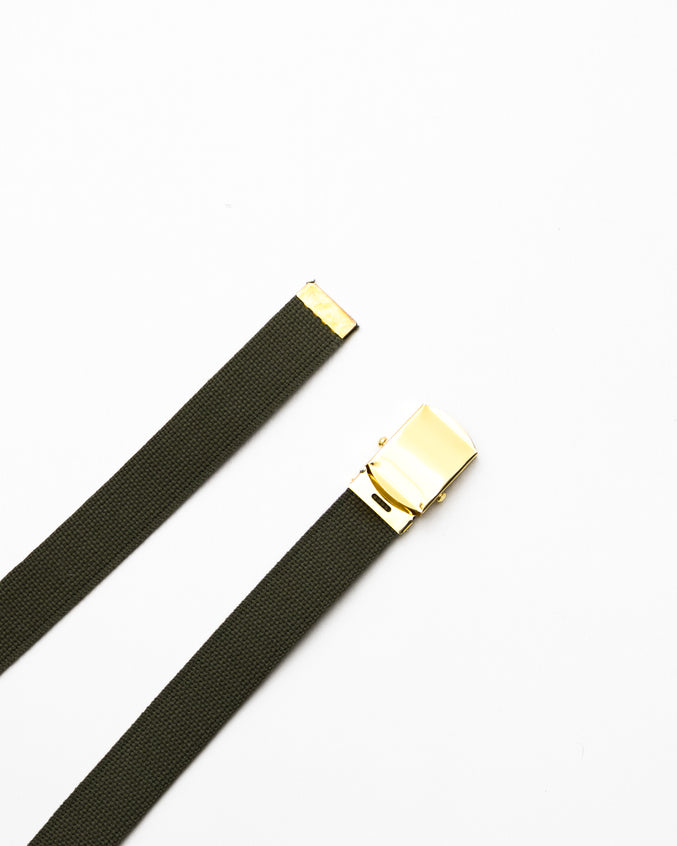 Web Belt- Color: Olive Drab/Brass | Green
