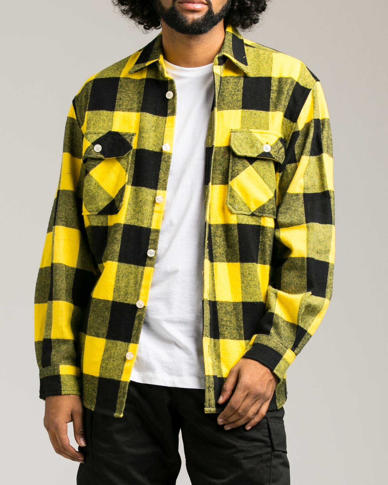 Heavyweight Flannel Shirt - Color: Yellow | Yellow