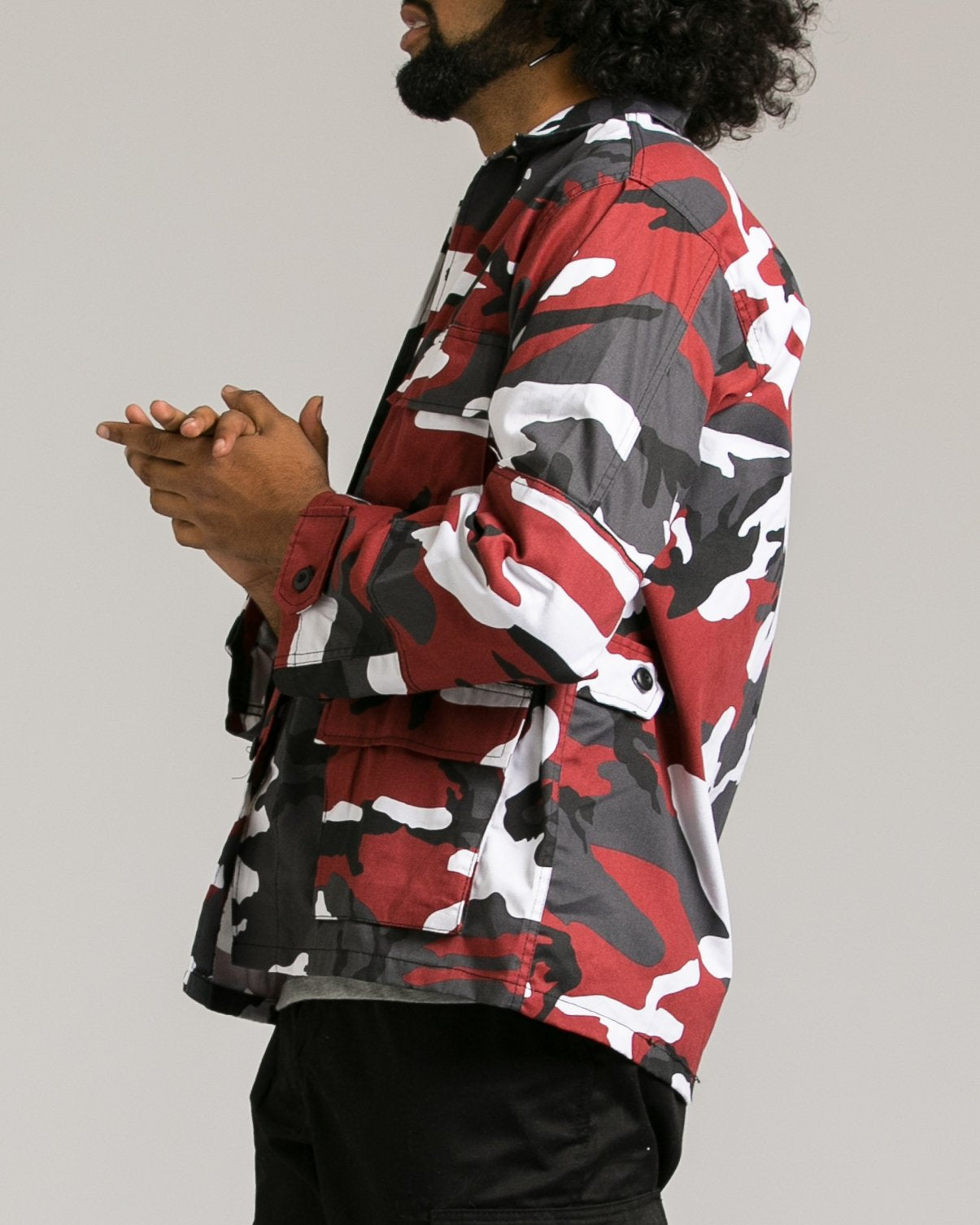 B.D.U. Shirt Jacket - Color: Red Camo | Red