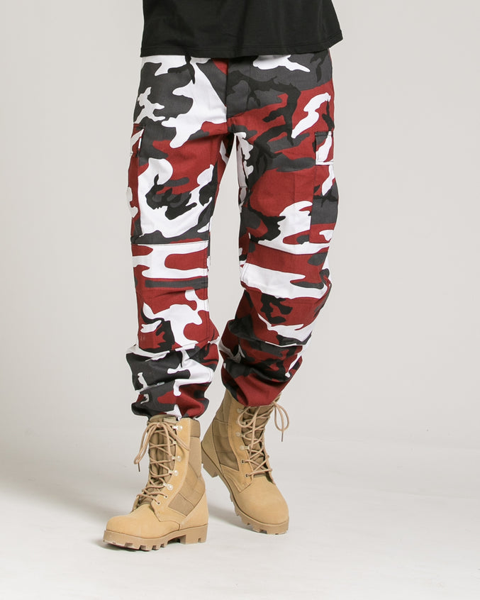 B.D.U. Pants - Color: Red Camo | Red