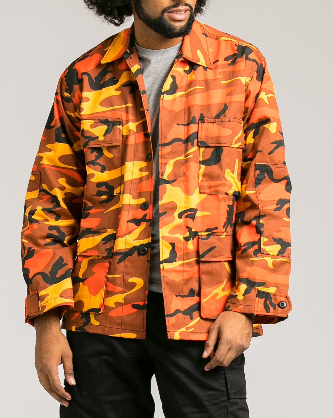 B.D.U. Shirt Jacket - Color: Savage Orange Camo | Orange
