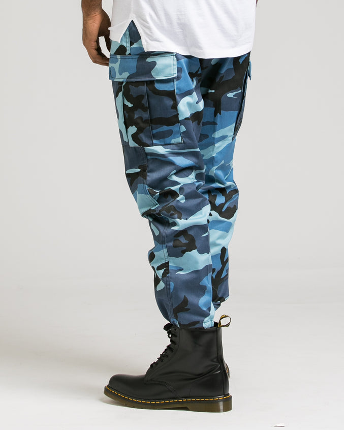 B.D.U. Pants - Color: Sky Blue Camo | Blue