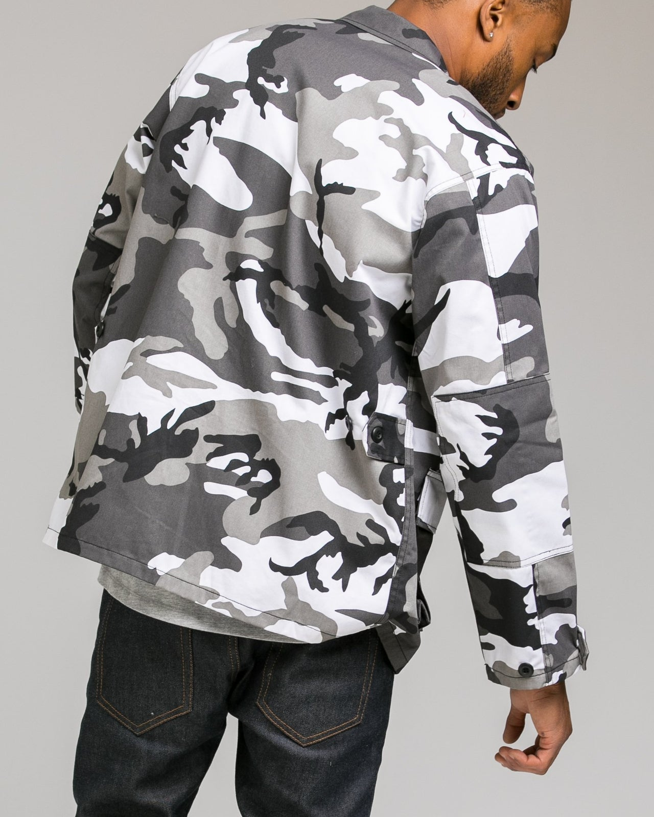 B.D.U. Shirt Jacket - Color: City Camo | White