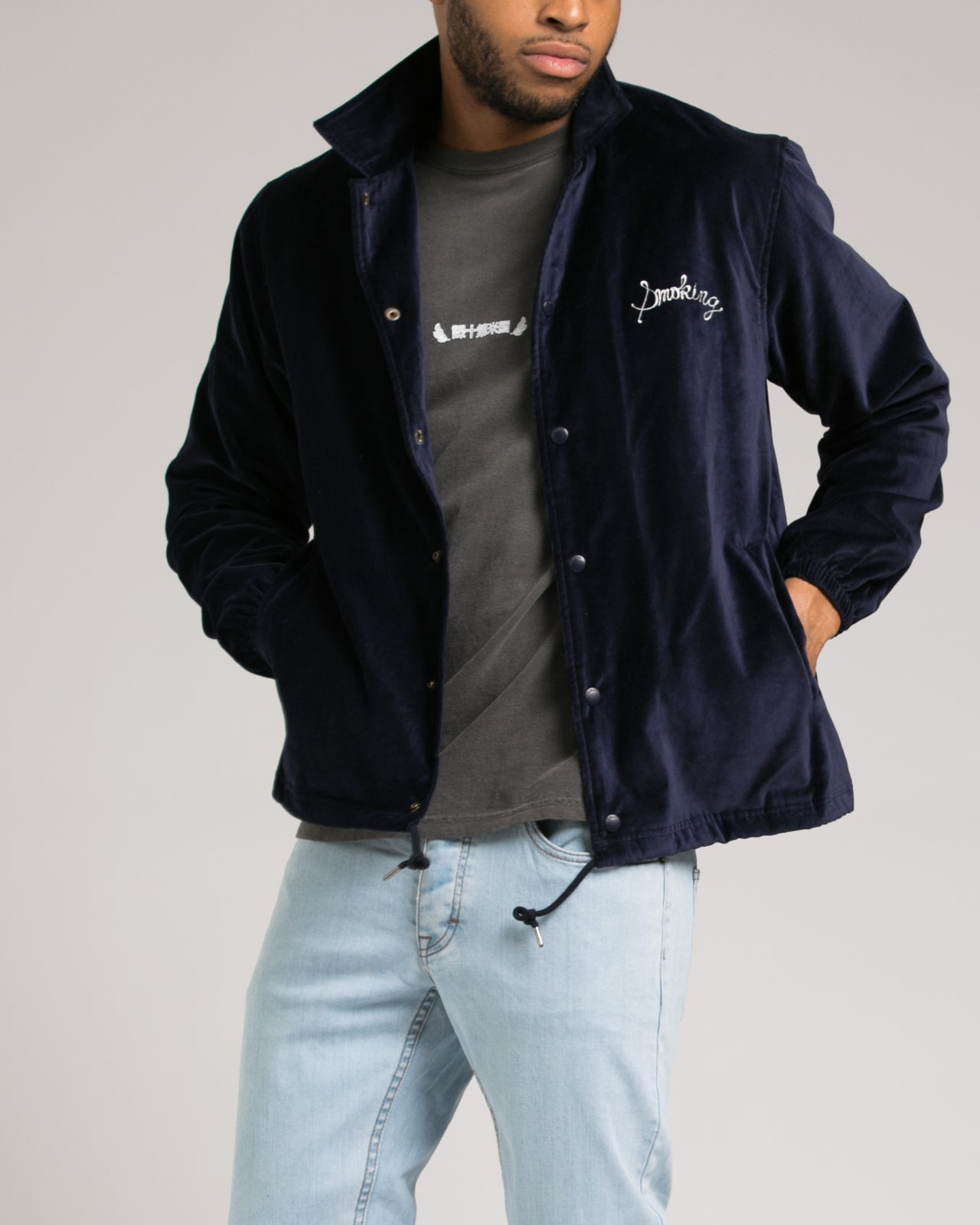 Smokers Jacket - Color: Navy | Blue
