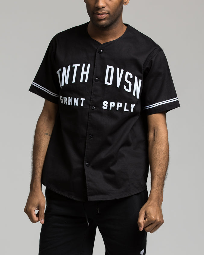 Barn League Baseball Jersey - Color: Black | Black