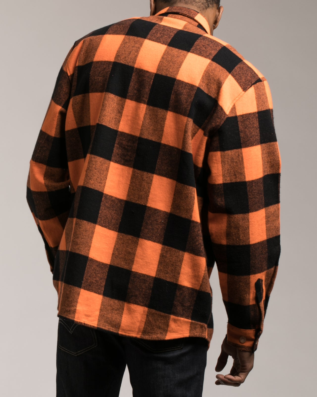 Heavyweight Flannel Shirt - Color: Orange | Orange