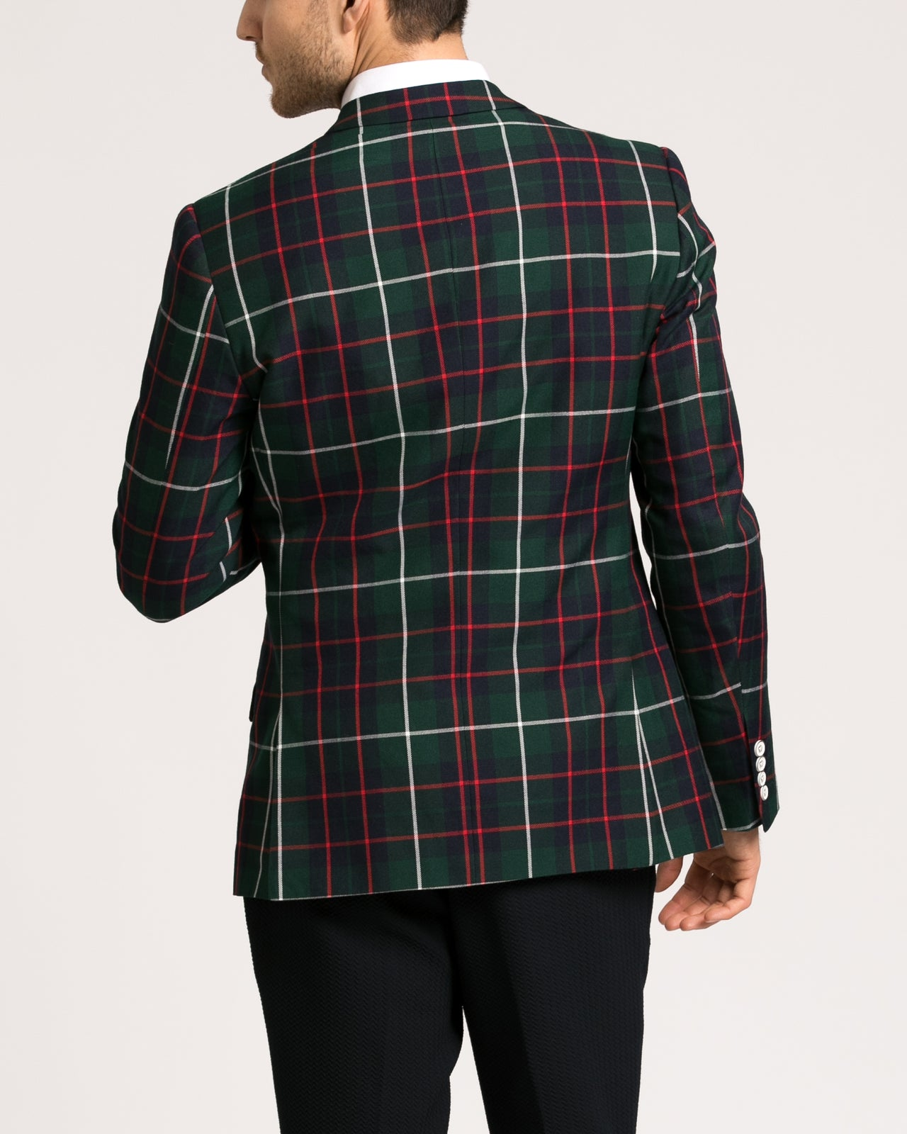 Dover Notch Jacket - Color: Green Navy/ Red Tartan | Green