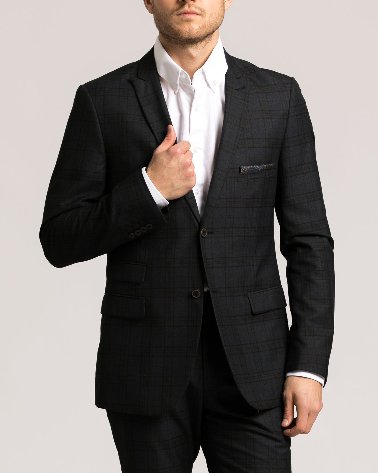 Ashton Peak Jacket - Color: Dark Blue Windowpane | Blue