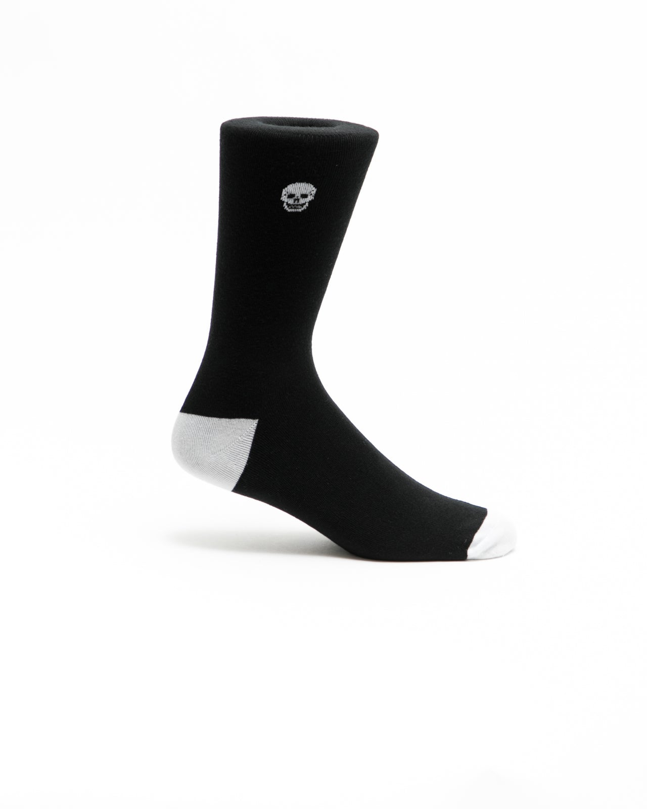 Skull Crew Sock - Color: Black | Black