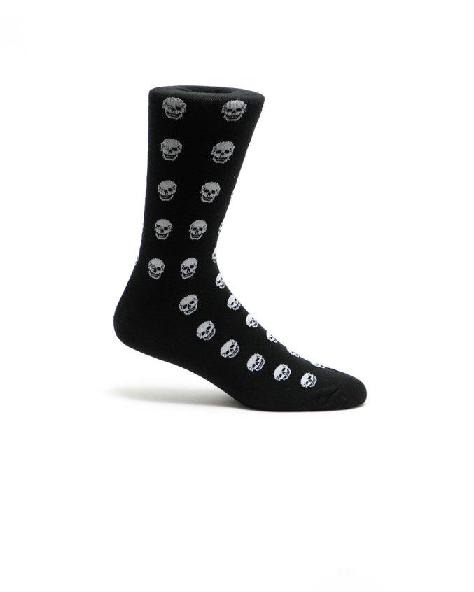 Skulls Crew Sock - Color: Black | Black