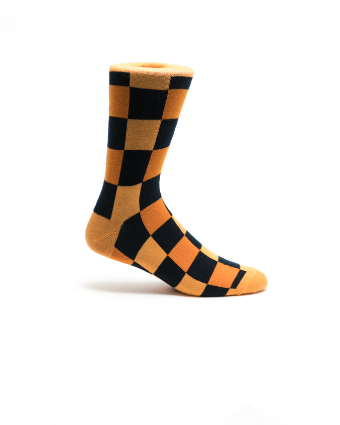 Boxes Crew Sock - Color Orange | Orange