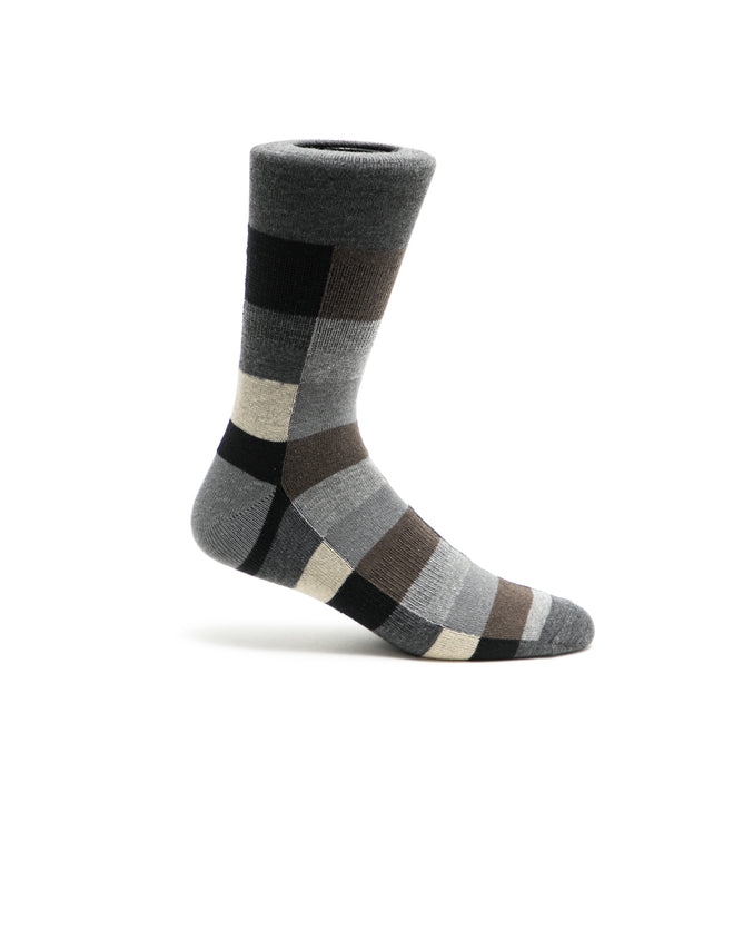 Boxes Crew Sock - Color: Gray | Gray