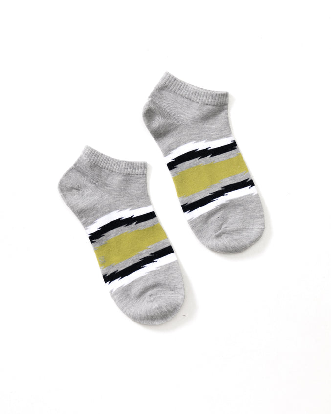 Stripe Ankle Sock - Color: Gray | Gray