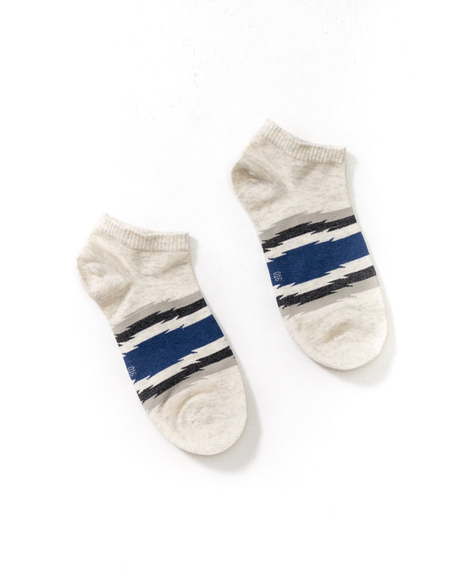 Stripe Ankle Sock - Color: White/Blue  | White