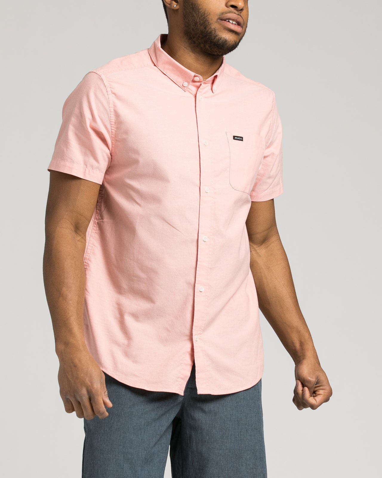 Thatll Do Short Sleeve Oxford Shirt - Color: Terracotta | Red