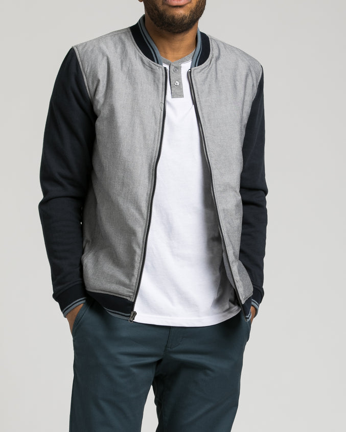 Oxford Bomber - Color: Carbon | Gray
