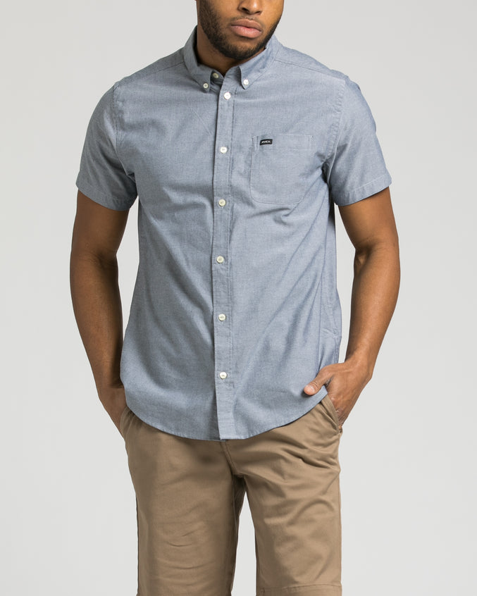 Thatll Do Short Sleeve Oxford Shirt - Color: Distant Blue | Blue