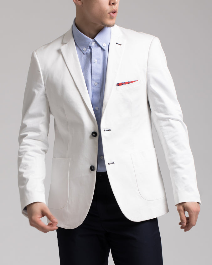 Ashton Peak Jacket - Color: White Twill | White