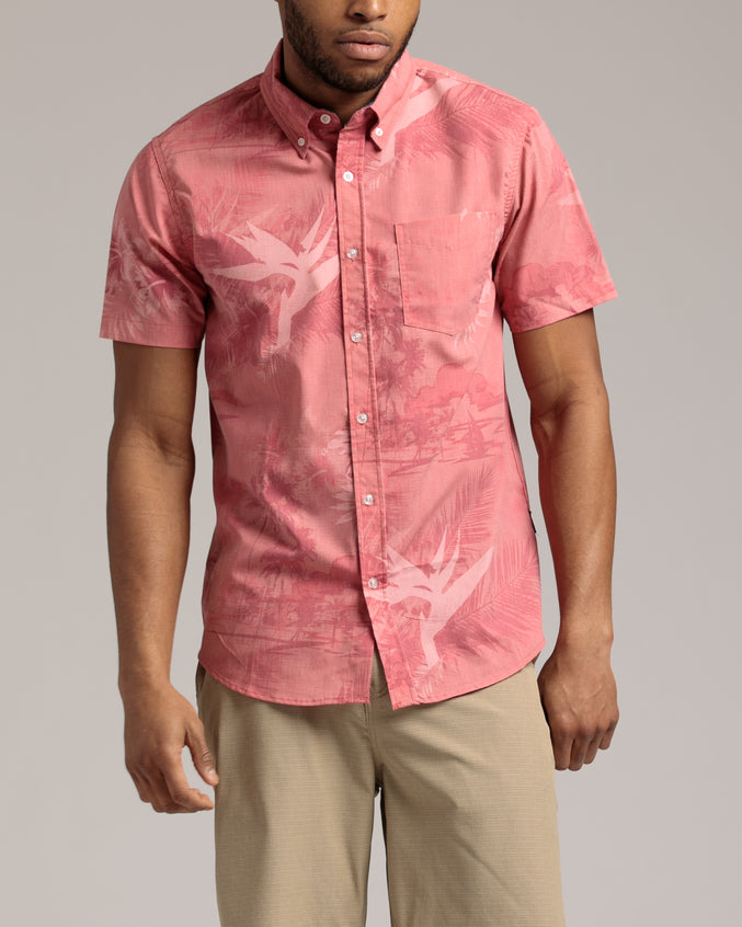 Manihiki SS Shirt - Color: Hula Red | Red