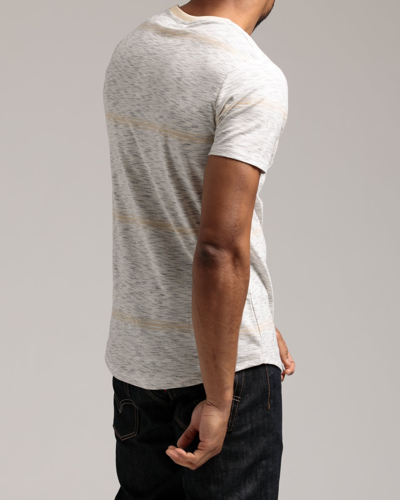 Gus Tee - Color: Sand | Gray